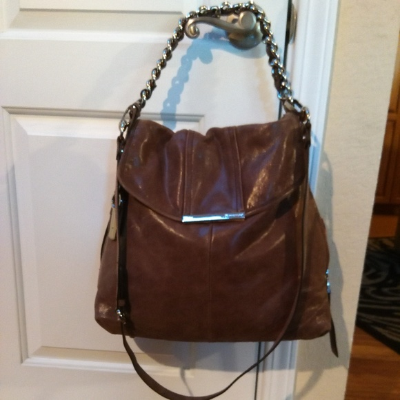 b. makowsky Bags   B Makowsky Large Brown Leather Bag   Poshmark 4364796c92